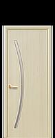 Межкомнатная дверь  Дива Экошпон со стеклом сатин, цвет ясень
