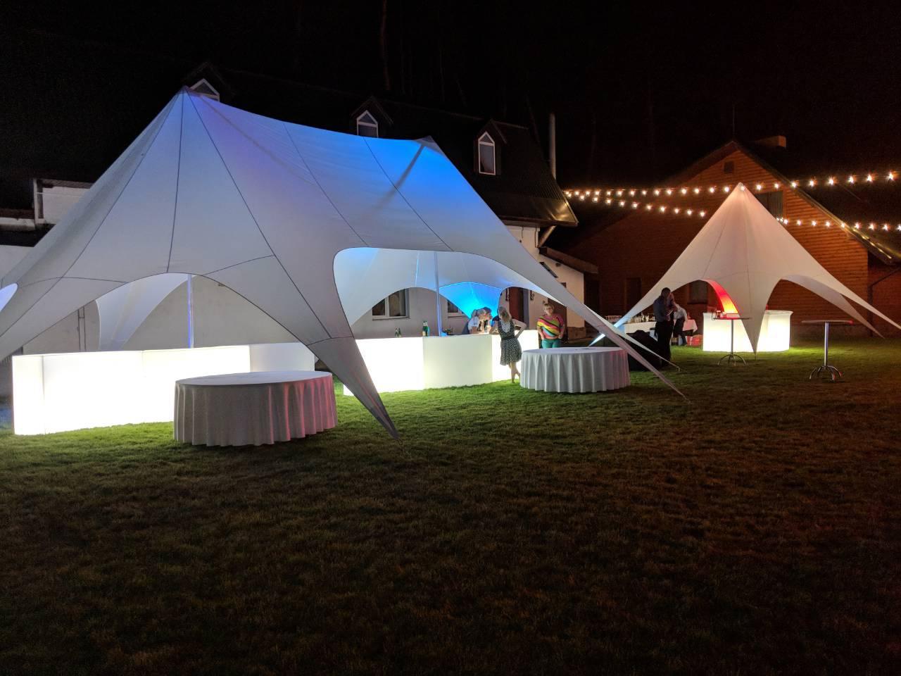 Аренда палатки Звезда двукупольная на 55 кв.метров