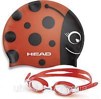 Детский набор для плавания  очки и шапочка HEAD METEOR CHARACTER SET