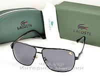 Мужские солнцезащитные очки Lacoste Овальные оправа металлическая трендовая модель лета люкс реплика, фото 1