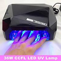 Сенсорная гибридная LED+CCFL лампа для ногтей 36 W, Diamond, фото 1