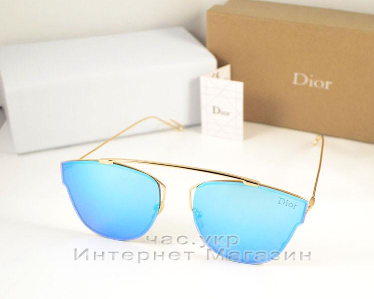 Cолнцезащитные очки Dior Соу Риал Поп зеркальные голубые люкс качество  Диор реплика