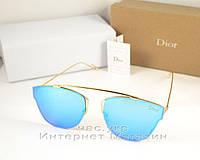 Cолнцезащитные очки Dior Соу Риал Поп зеркальные голубые люкс качество  Диор реплика, фото 1