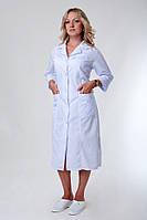 Медицинский женский халат на пуговицах батист 48-66р. Хелслайф, фото 1