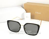 Женские солнцезащитные очки  Dior Квадратные оправа металлическая с пластиком Диор качественная реплика