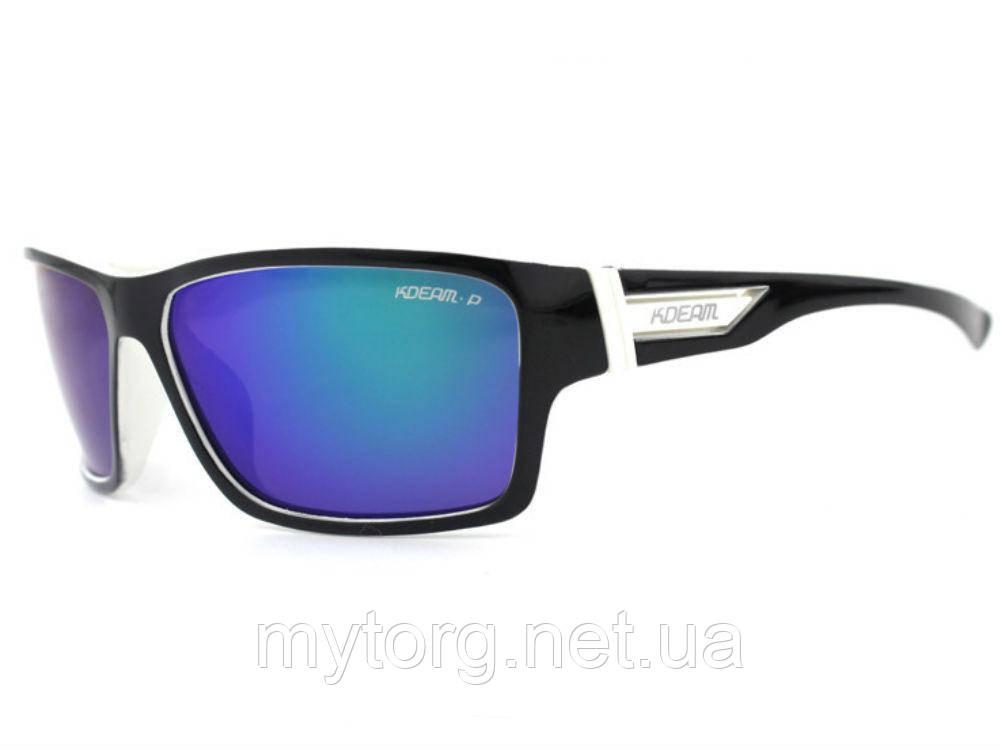 Солнцезащитные поляризационные очки Kdeam 717  Черный, синий, белый