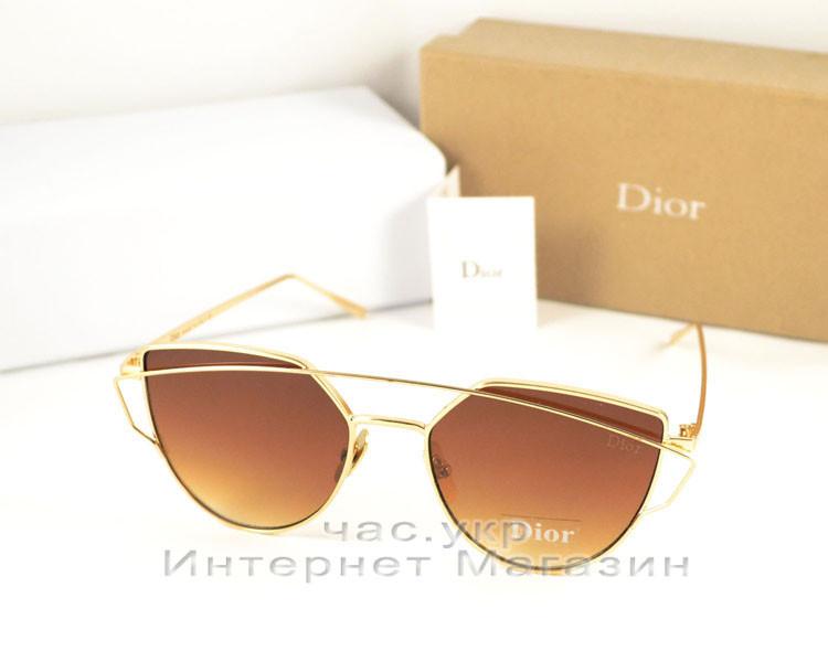 Женские солнцезащитные очки  Dior Monster металлическая оправа утонченная новика лета Диор люкс реплика, фото 1