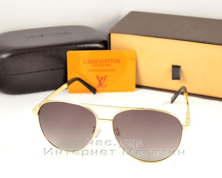 Женские солнцезащитные очки Louis Vuitton Aviator металлическая оправа под золото ультрамодные люкс реплика