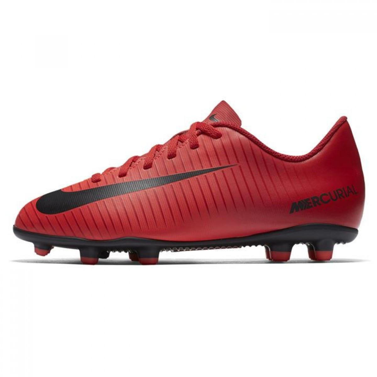 Купить фирменные Бутсы Nike Mercurial Vortex Childrens FG Red Black ... 0e050af821359