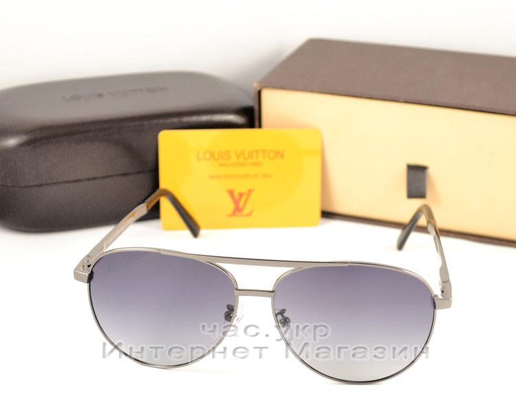 Cолнцезащитные очки Louis Vuitton Авиатор металлическая оправа стильная и эффектная модель LV люкс реплика