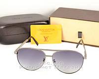 Cолнцезащитные очки Louis Vuitton Авиатор металлическая оправа стильная и эффектная модель LV люкс реплика, фото 1