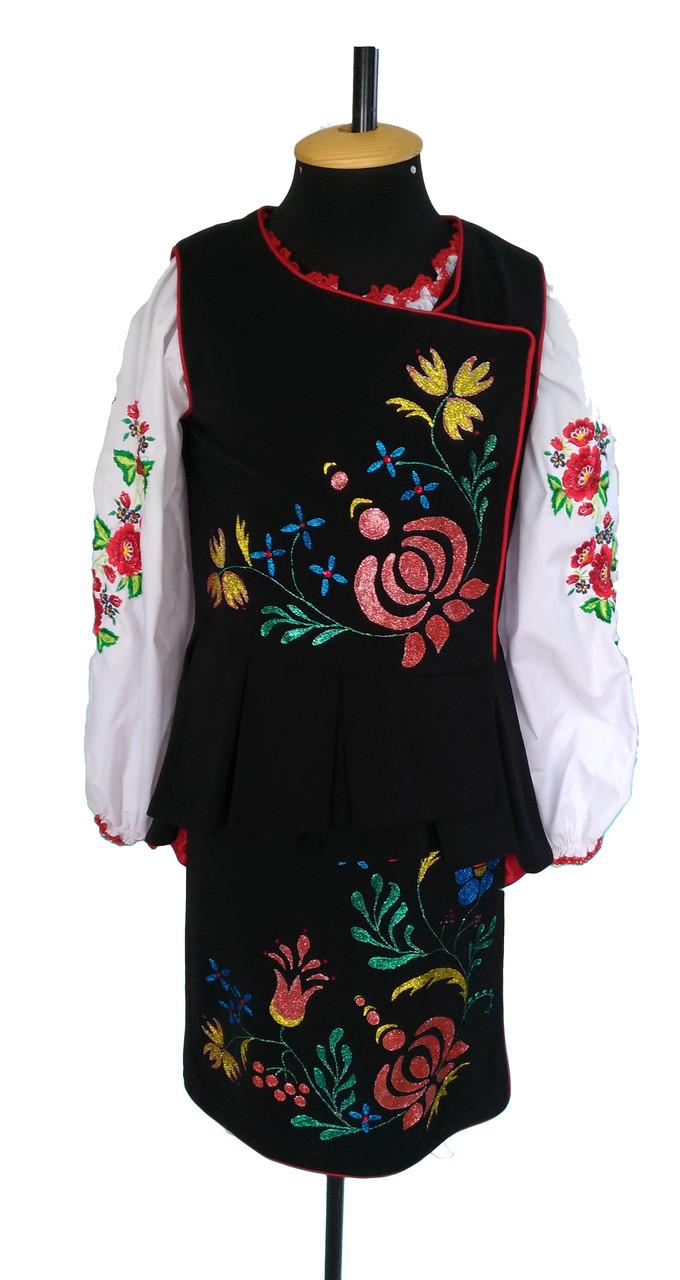Украинский народный стилизованный сценический костюм  Коломыйка
