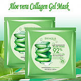 Тканевая маска крем-гель для лица Bioaqua Aloe Vera, 1шт, фото 3