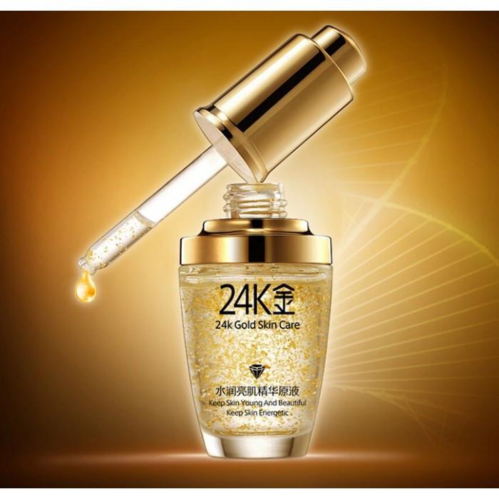 Сыворотка Bioaqua 24k Gold skin care, с золотом и гиалуроновой кислотой, 30 мл