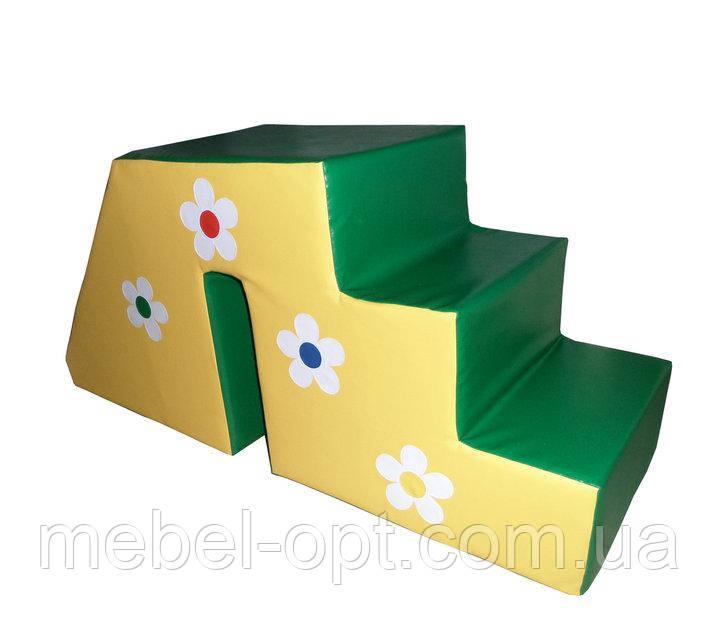 Горка-ступеньки Цветочек Тia-sport