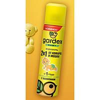 Аэрозоль 2 в 1 от комаров и мошки для детей от 1 года Gardex Baby, 80 мл