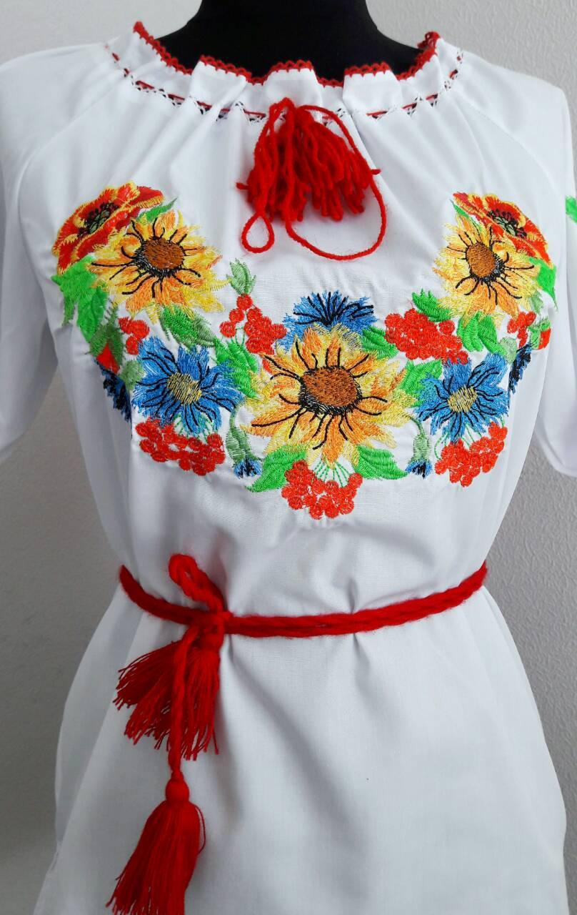 Женская вышиванка короткий рукав, фото 1