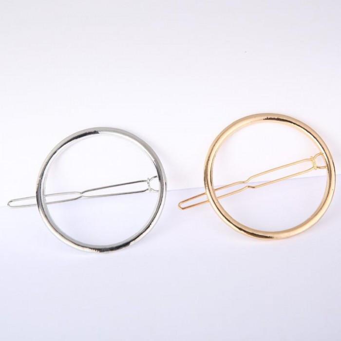 Заколка для волос в форме круга, 1 шт