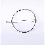 Заколка для волос в форме круга, 1 шт, фото 4