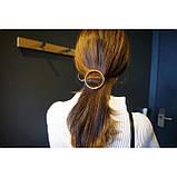 Заколка для волос в форме круга, 1 шт, фото 5