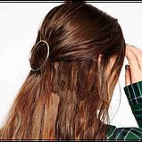 Заколка для волос в форме круга, 1 шт, фото 3