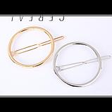 Шпилька для волосся у формі кола, 1 шт, фото 2
