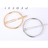 Заколка для волос в форме круга, 1 шт, фото 2