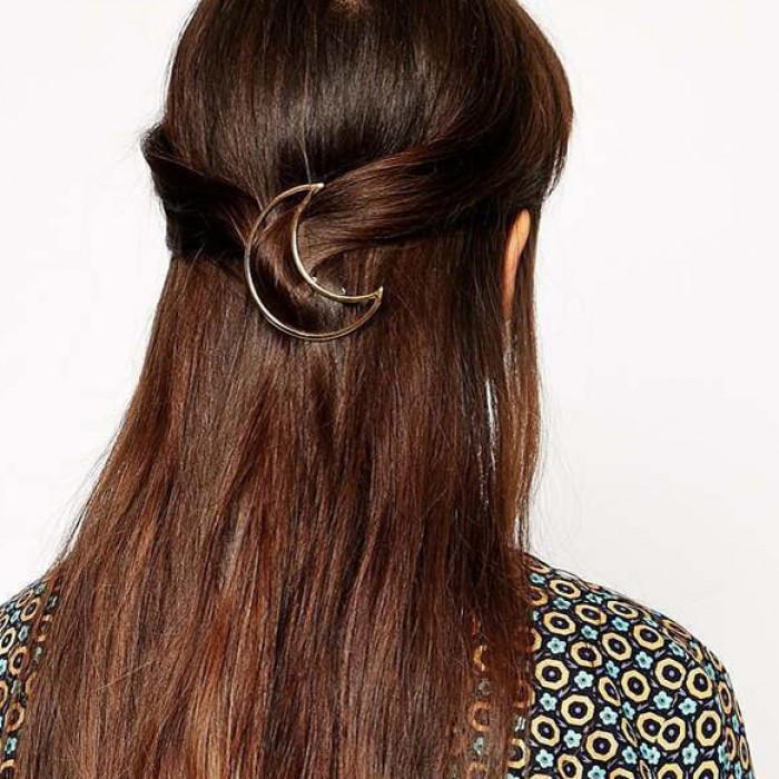 Шпилька для волосся півмісяць, 1 шт