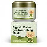 Ночная коллагеновая маска для лица и шеи BIOAQUA Pigskin Collagen Nourishing Mask, 100 г, фото 4
