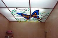 Подвесной потолок из оргстекла с цветной фотопечатью