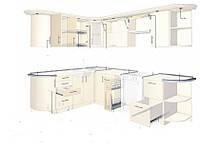 Кухни на заказ по индивидуальным размерам и дизайну изготовление, фото 1