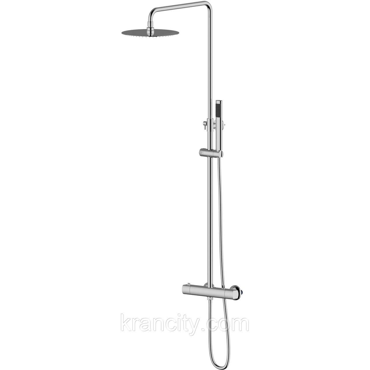 Система душевая  (смеситель-термостат для душа, верхний и ручной душ, шланг) IMPRESE CENTRUM Т-15410