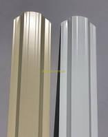 Металлический штакетник 113 мм, 108 мм  RAL 9003(белый) 1-но и 2-х сторонний 1-но сторонний, фото 1