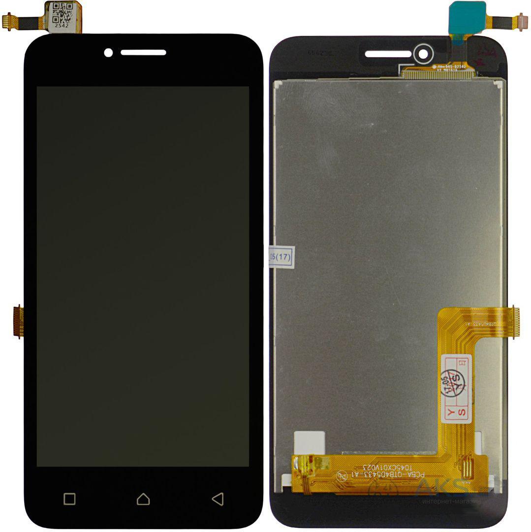 Дисплей для Lenovo A1010 A Plus (A1010a20/A2016a40 Vibe B) с тачскрином черный Оригинал