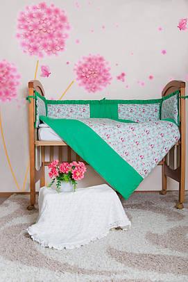 Комплект постельного белья с бортиками Bamboccio Прованс 120х60  (BZZR-13)