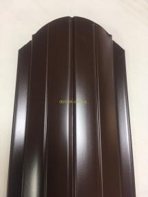 Штакет металлический 108 мм, 113 мм RAL 8017(коричневый) глянец двухсторонний Китай 0,4 мм