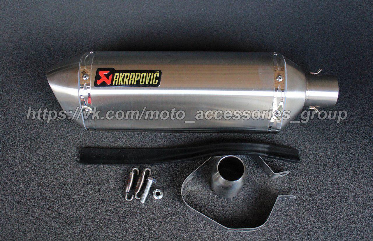 Прямоточный глушитель Akrapovic Steel 46см