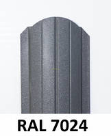Штакет металлический  108 мм, 113 мм  RAL 7024 глянец двухсторонний (0.45мм ) форма 108 мм