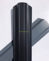 Штакет металлический  108 мм, 113 мм  RAL 7024 глянец двухсторонний (0.45мм ) форма 113 мм