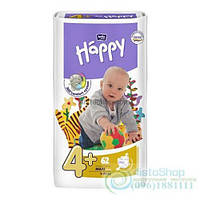 Подгузники Bella Happy 4+ Fun 9-20 Кг 62 Шт