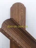 Штакетник металлический  Золотой дуб/золотой дуб 108мм, 113 мм Китай