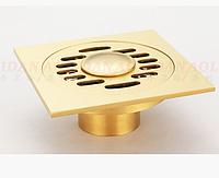 Трап для душевой кабины в цвете золота 7-010
