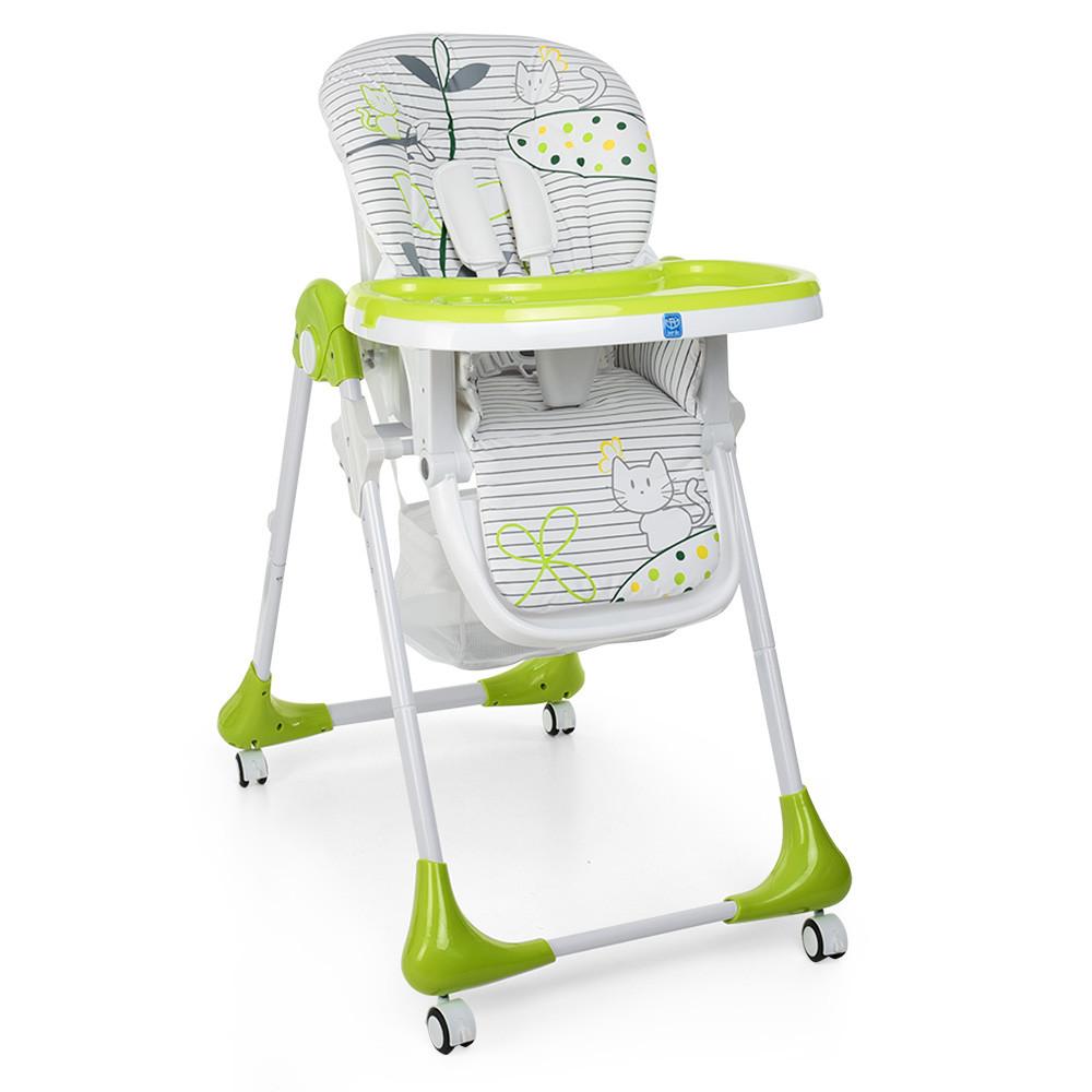 Стульчик для кормления с выдвижным столиком M 3233 Cat Green Гарантия качества Быстрая доставка