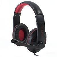 Игровая гарнитура KINBAS GX-K9 черно-красная для компьютера ноутбука с микрофоном jack 3.5 mm универсалльная