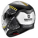Шлем Shark D-skwal Saurus р.M, черно-белый, фото 2