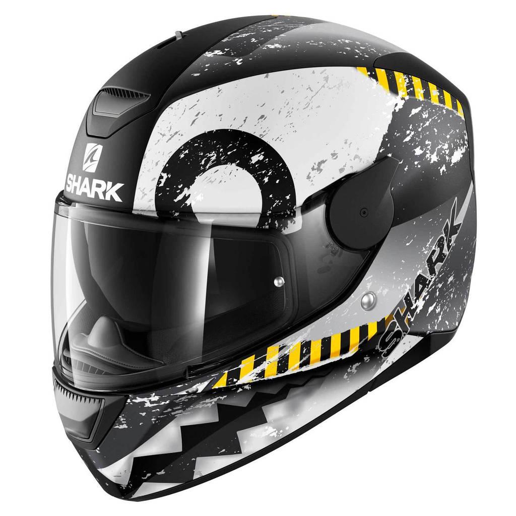 Шлем Shark D-skwal Saurus р.M, черно-белый