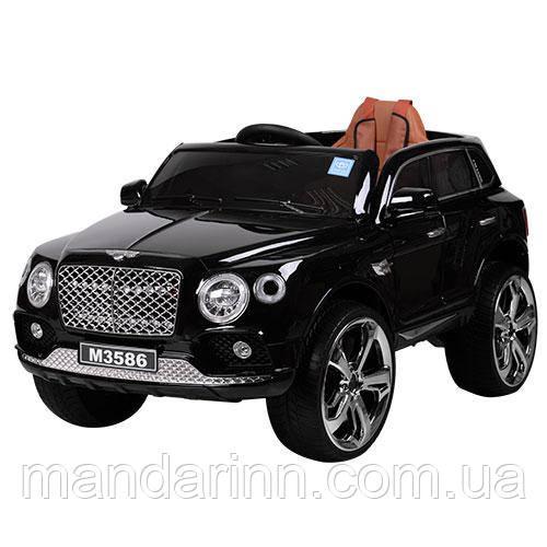 Детский электромобильM 3586EBLRS-2, колеса EVA, черный