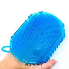 Перчатка мочалка силикон для душа  массажная 2х стор, фото 3