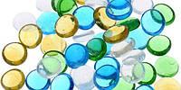 Камни для декора круглые цветные микс малые d 2 см