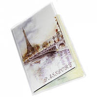 """Обложка на паспорт """"Париж пейзаж"""""""